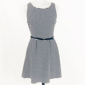 MERONA BLACK & WHITE STRIPED DRESS